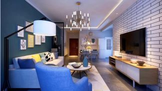 2019北欧70平米设计图片 2019北欧二居室u乐娱乐平台设计
