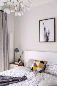 北欧卧室床设计图