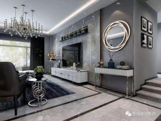 精雕细刻白色客厅家装设计