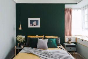 现代绿色卧室装修设计图片