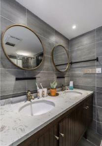 卫生间洗漱台现代简约装饰效果图