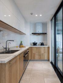 质朴现代简约白色厨房岛台家装设计图
