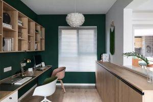 书房白色飘窗家装设计图