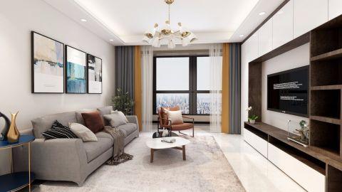 2019北欧客厅装修设计 2019北欧窗帘装修效果图片
