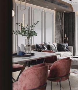2019现代简约餐厅效果图 2019现代简约餐桌装修图片
