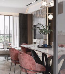 精致餐厅餐桌室内装修设计