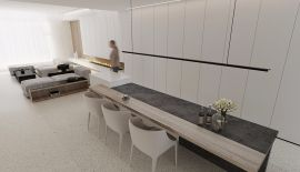 低调优雅简约白色走廊装潢设计图片