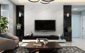 质朴后现代白色背景墙装修设计