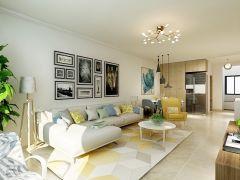 客厅灰色沙发装修设计图片