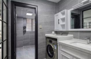 卫生间白色洗漱台装修美图
