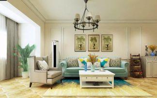 精雕细刻美式暖色系背景墙设计图欣赏