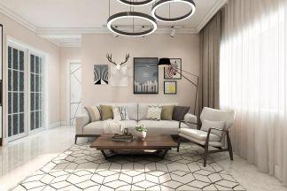 客厅粉色照片墙家装设计图