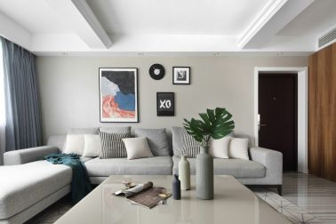 120平北歐風格二居室客廳裝修效果圖