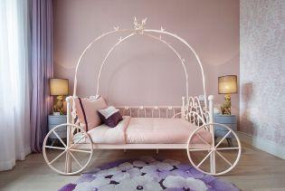 客厅粉色背景墙装饰设计图片