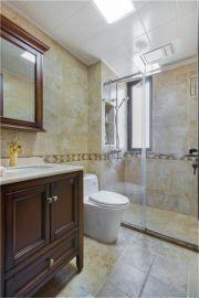 古朴卫生间浴室柜室内效果图