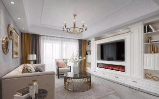 客厅白色吊顶设计图欣赏
