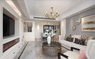 美式客厅背景墙装修效果图大全