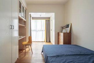 清爽卧室落地窗装修实景图