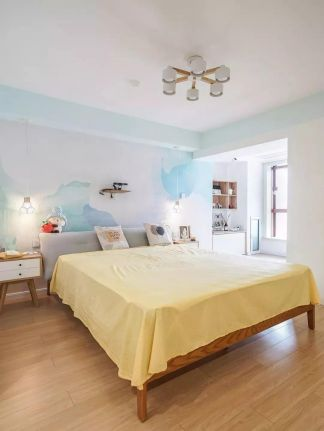 北欧卧室背景墙家装设计图