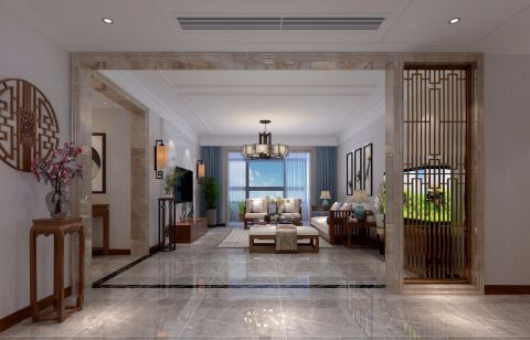 2020新中式客厅装修设计 2020新中式隔断图片