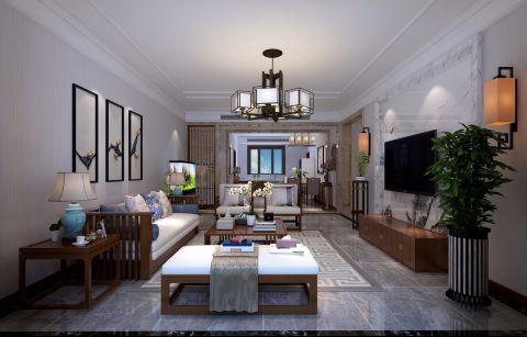 2020新中式客厅装修设计 2020新中式吊顶设计图片