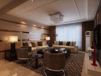 客厅吊顶现代装饰效果图
