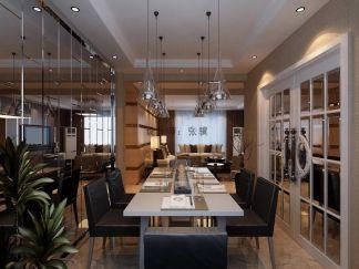 典雅现代黑白餐桌效果图大全