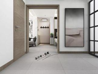 自然白色客厅装潢图片