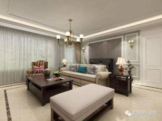 舒适客厅美式装潢图