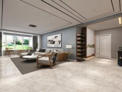 现代客厅吊顶装潢效果图