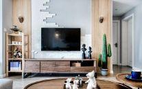 2021北欧客厅装修设计 2021北欧电视柜装修效果图片