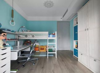 现代卧室背景墙装修案例图片