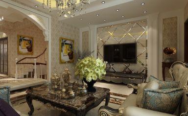 沉稳黄色背景墙装饰设计