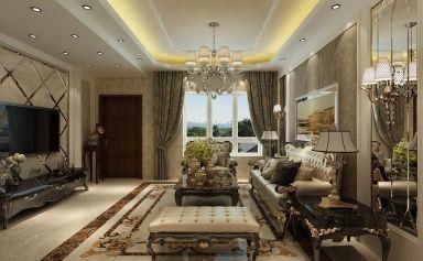 眩亮客厅美式装修案例