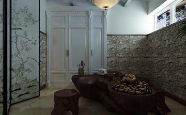 眩亮美式米色细节室内装修设计