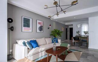 78平旧房改造现代简约装饰效果图