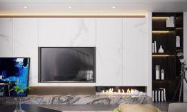 现代简约卧室背景墙装饰设计图片