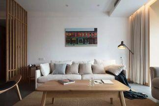 日式客厅茶几平面图