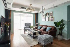 质感蓝色客厅装饰设计