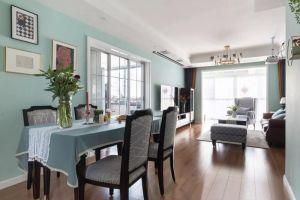 简洁蓝色照片墙室内装饰