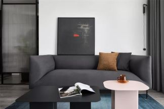 现代简约客厅背景墙装修美图