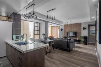 现代厨房地板装修美图