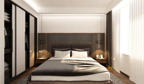 最新现代黑白灰床家装设计图