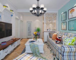2020美式70平米設計圖片 2020美式二居室裝修設計