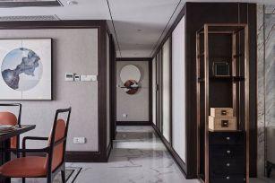 格调白色走廊装潢实景图片