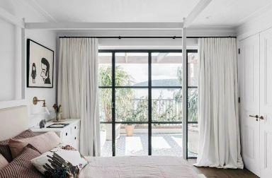 清爽窗帘装修方案