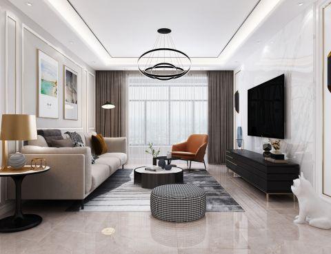 客厅细节现代简约家装设计图