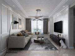 完美客厅简约装潢实景图