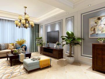 优雅客厅背景墙装潢设计图片