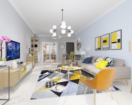 2019北欧110平米u乐娱乐平台设计 2019北欧三居室u乐娱乐平台设计图片